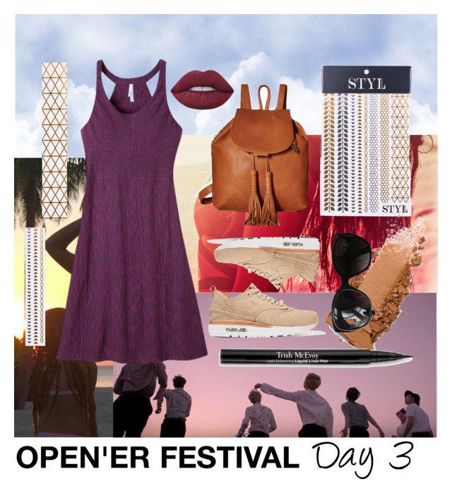 """Opener festival 3"" by piwowska-kaja on Polyvore featuring moda, Victoria Beckham, Mountain Khakis, Lucky Brand, NIKE, STYLondon, Chanel, Lime Crime i Trish McEvoy"