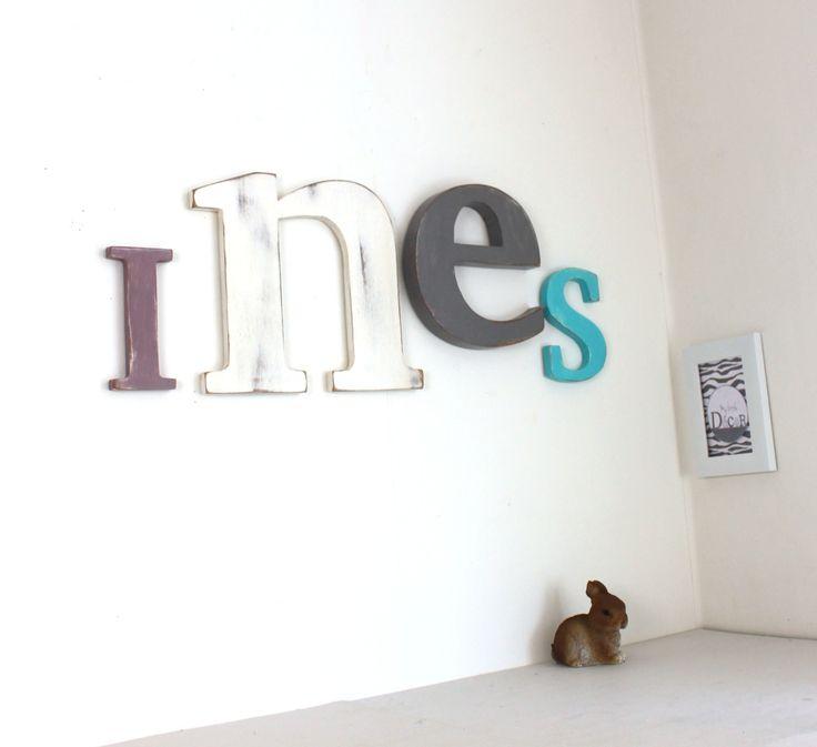 17 meilleures idéesà propos de Prenom Ines sur Pinterest Prénom en tricotin, Nom des nuages  # Enseigne En Bois Personnalisé