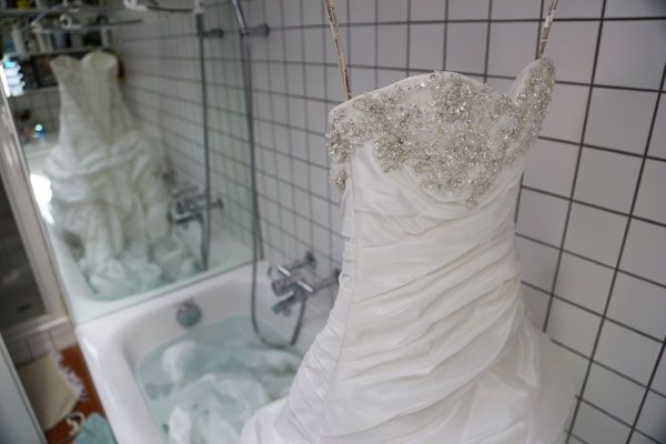 When cleaning your wedding dress, it is important to know what kind of fabric the dress is made out of and to take the dress details into consideration.