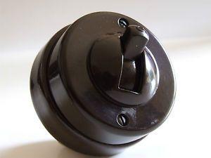 Crabtree Vintage Bakelite Toggle Light Switch 1Way 1Gang Restored