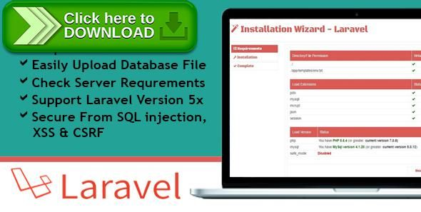 [ThemeForest]Free nulled download Installation Wizard - Laravel from http://zippyfile.download/f.php?id=46272 Tags: ecommerce, App Installer, easy installation, install manager, install wizard, installation wizard, installer, Laravel 5.x application installer, Laravel 5.x installation, laravel install, Laravel installer, php installation, php installer, setup wizard, simple setup