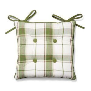 Green Highland Check Seat Pad