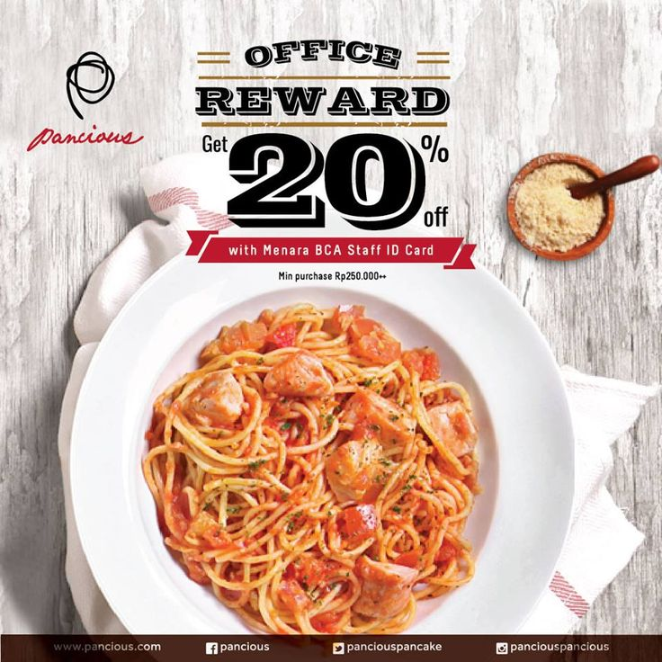 Pancious Restaurant Promo Office Reward