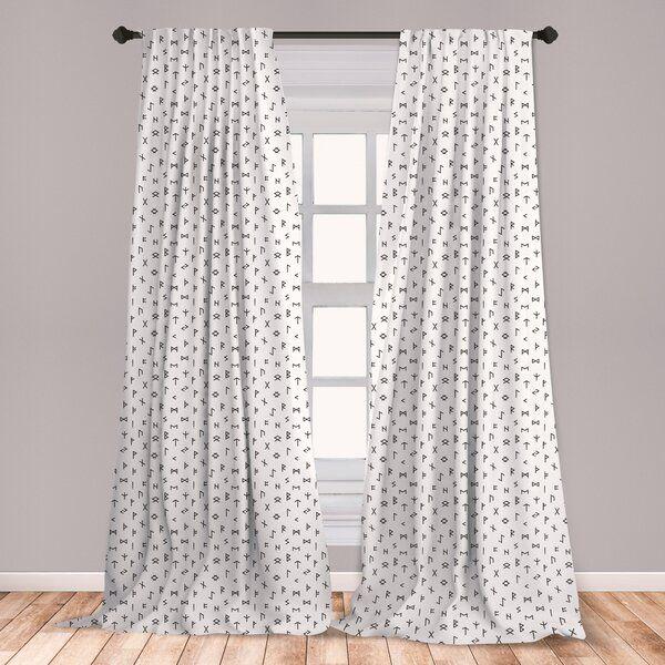 Occult Room Darkening Rod Pocket Curtain Panels Panel Curtains Rod Pocket Curtain Panels Window Treatments Living Room