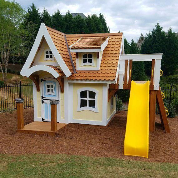 The Storybook Cottage By Imagine That Playhouses Outdoorplayhouse Diyplayhouseplans Play Houses Build A Playhouse Storybook Cottage