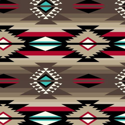 "Aztec Design Style Print Fleece Fabric by the Yard Content: 100% Polyester Width: 58/60"" Note: Multiple yardages will come in one piece. The color in the picture might be different from the actual col"