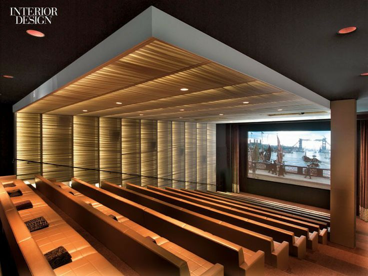 Interior Design Magazine Screening Room For United Talent Agency In Los Angeles Designed By Rottet Studio