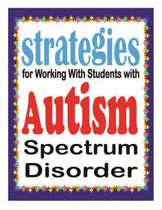 Strategies for Working with Children with Autism Spectrum Disorder--excellent suggestions and ideas. Links to pdf documents with ideas & strategies. Share with teacher(s) in August.