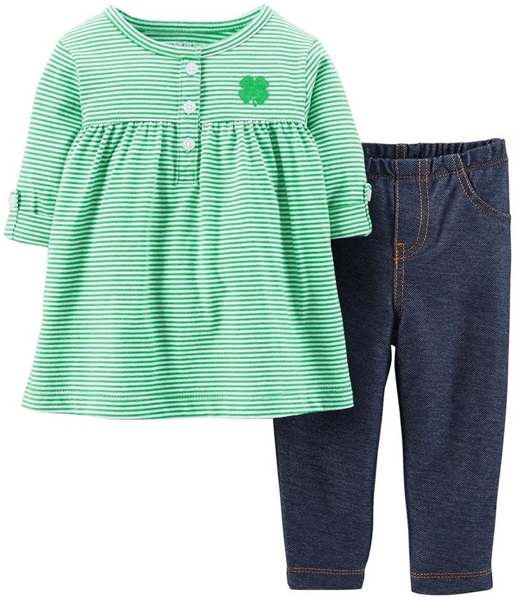 Carters Baby Girls' St. Paddy's Day Tunic and Pant Set >>> Hurry! Check out this great product : Baby clothes
