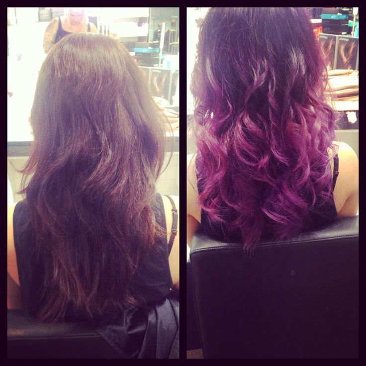 Purple ombre by me  Model :Theresa