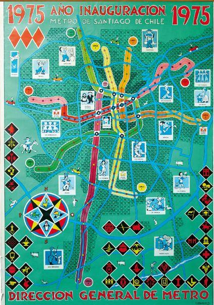 Afiche inaguración Metro de Santiago