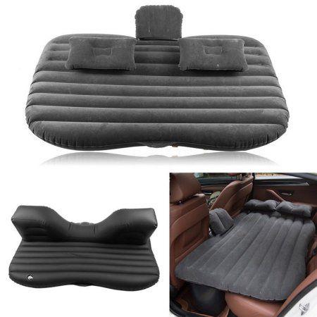 US Ship Car Back Seat Cushion Air Bed Travel Mattress Accessories Infaltor Pump