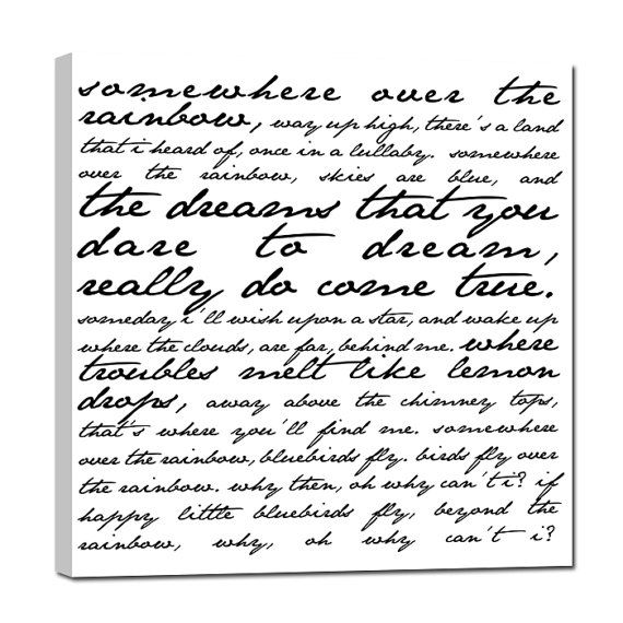 Over The Rainbow Lyrics Sheet Music: 1000+ Ideas About Lyrics On Canvas On Pinterest