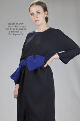 Daniela Gregis | long and wide dress  in wool crêpe | #danielagregis