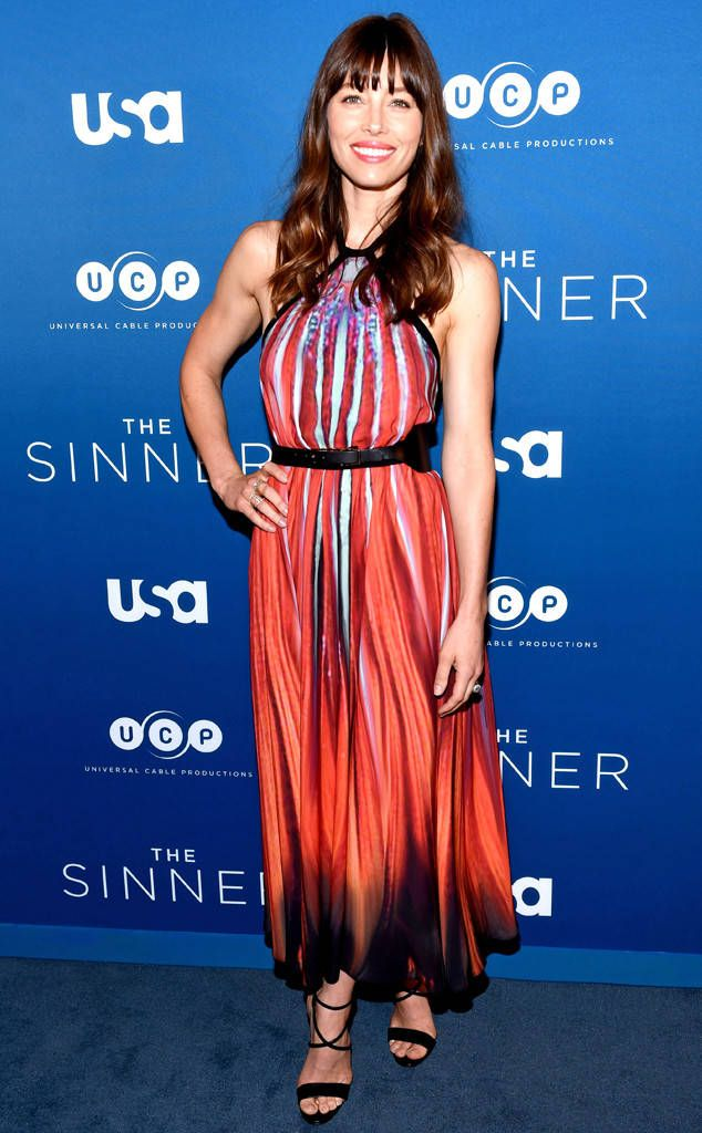 Jessica Biel from The Big Picture: Today's Hot Photos  The brunette beauty strikes a pose at The Sinnerseries premiere screening in New York City.
