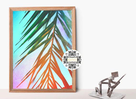 Ombrè Palms. Matte Photo Print. Fine Art Print.Sunset. Palm tree. Beach. Boho Art, Ombre. Beach Decor