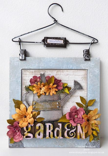 That's Life: For The Love Of Plants ~ Simon Says Stamp Monday Challenge using Tim Holtz, Ranger, Idea-ology, Sizzix and Stamper's Anonymous products; June 2015