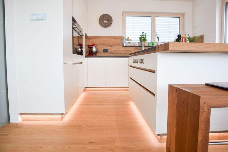 Küche // Weiß, Eiche Altholz