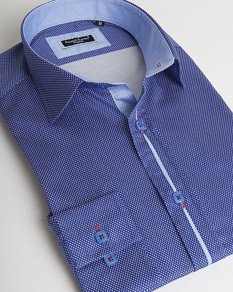 Navy blue dress shirt by Franck Michel
