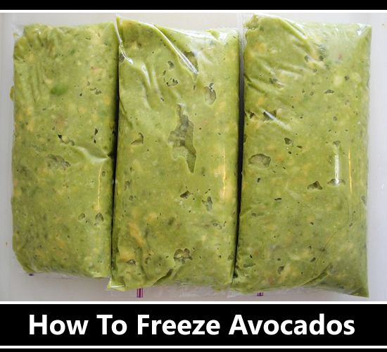 How To Freeze Avocados - Stores for up to 6 months... #freezing #homesteading