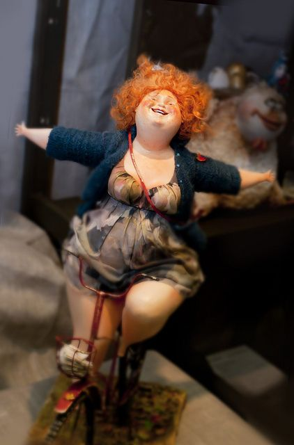 Darling chubby doll with red hair and freckles. Doll heaven for me.  How I love this joyful doll.