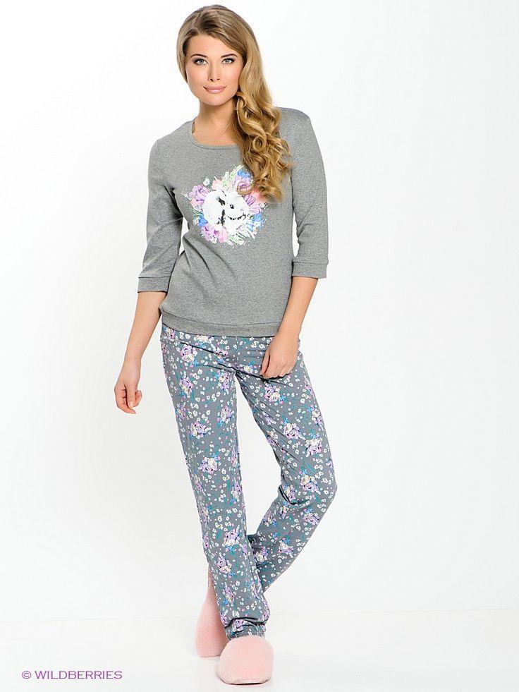 Пижама женская (лонгслив, длинные брюки).