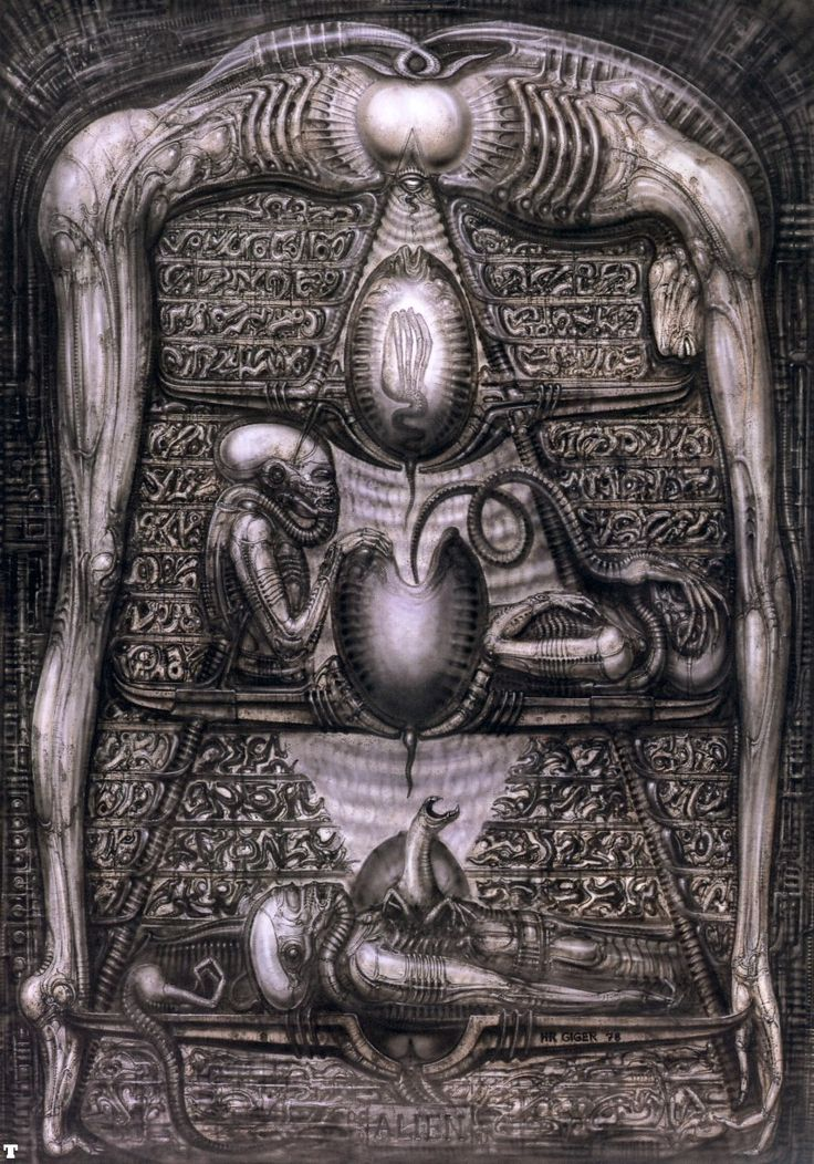 "One of my favs for several reasons. ""Alien Hieroglyphics"". #Alien #Giger"