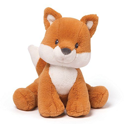 GUND is proud to present Rococo Fox - a wily woodland creature that makes an adorable on-trend addition to any nursery or playroom. This 8' seated plush is a cute rust and white colored fox. Machine-...