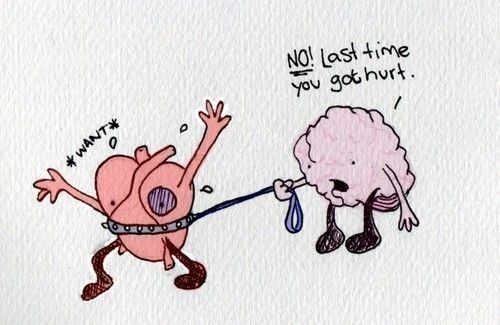 Sometimes we DO have to keep our hearts on a leash.  But not so much that we miss great opportunities.