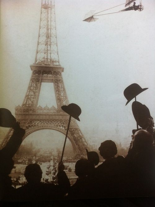 Brazilian aviation pioneer Alberto Santos Dumont on a flight that rounded the Eiffel Tower, 1901.