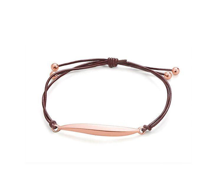 Rose Gold Leaf Bracelet with Burgandy Leather Bracelet by clutchandclasp on Etsy