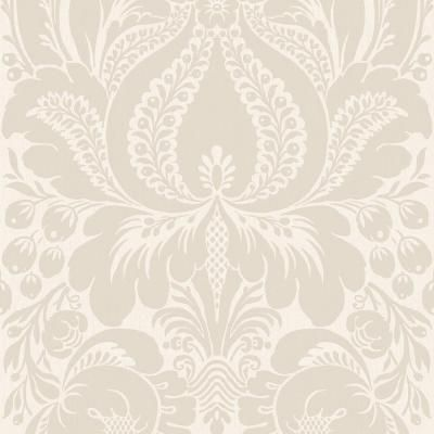 The Wallpaper Company 8 in. x 10 in. Greige Large Scale Damask Wallpaper Sample-WC1281855S at The Home Depot