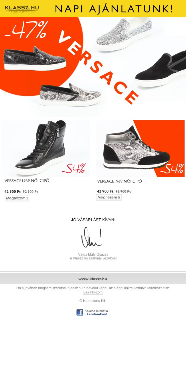 Versace női cipő leárazás, akár 54% kedvezménnyel!