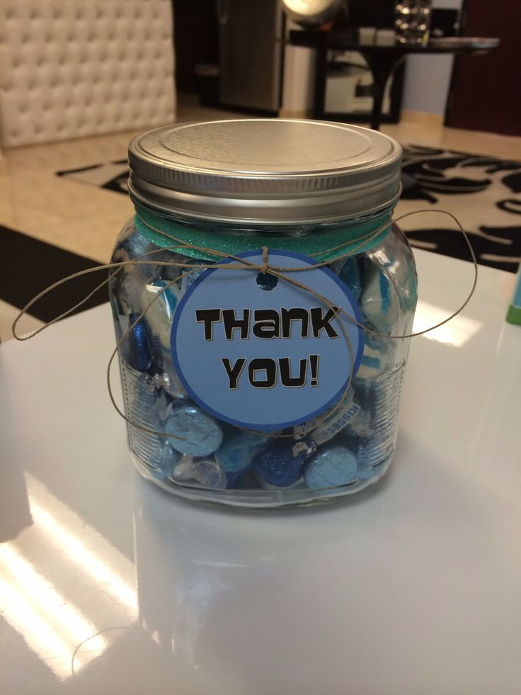 22 best amenities and gifts images on pinterest client gifts another fun client gift going out today mason jar filled with blue candies negle Choice Image
