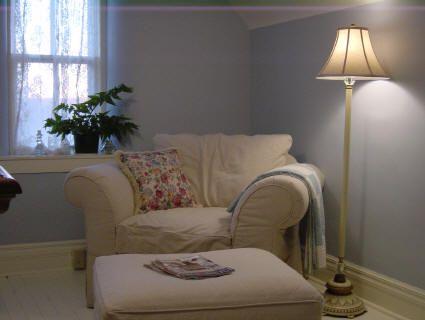 navy blue mid century sofa