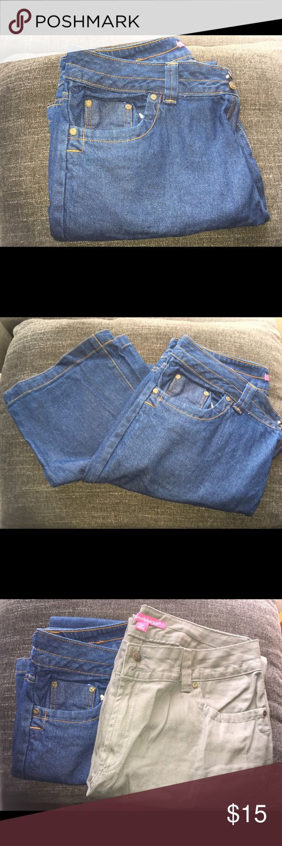 Wide Leg Pants (2 for $15) 12W Jeans, fatigue and denim, 2 jeans for $15. Jeans Flare & Wide Leg