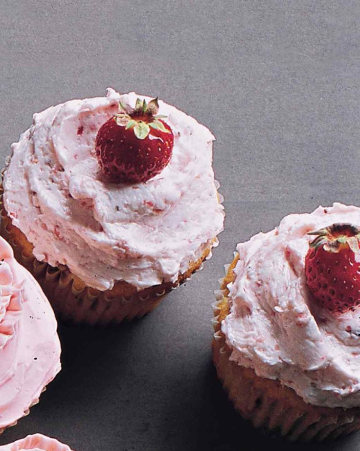 Strawberry Cupcakes with Strawberry Buttercream | Martha Stewart ...