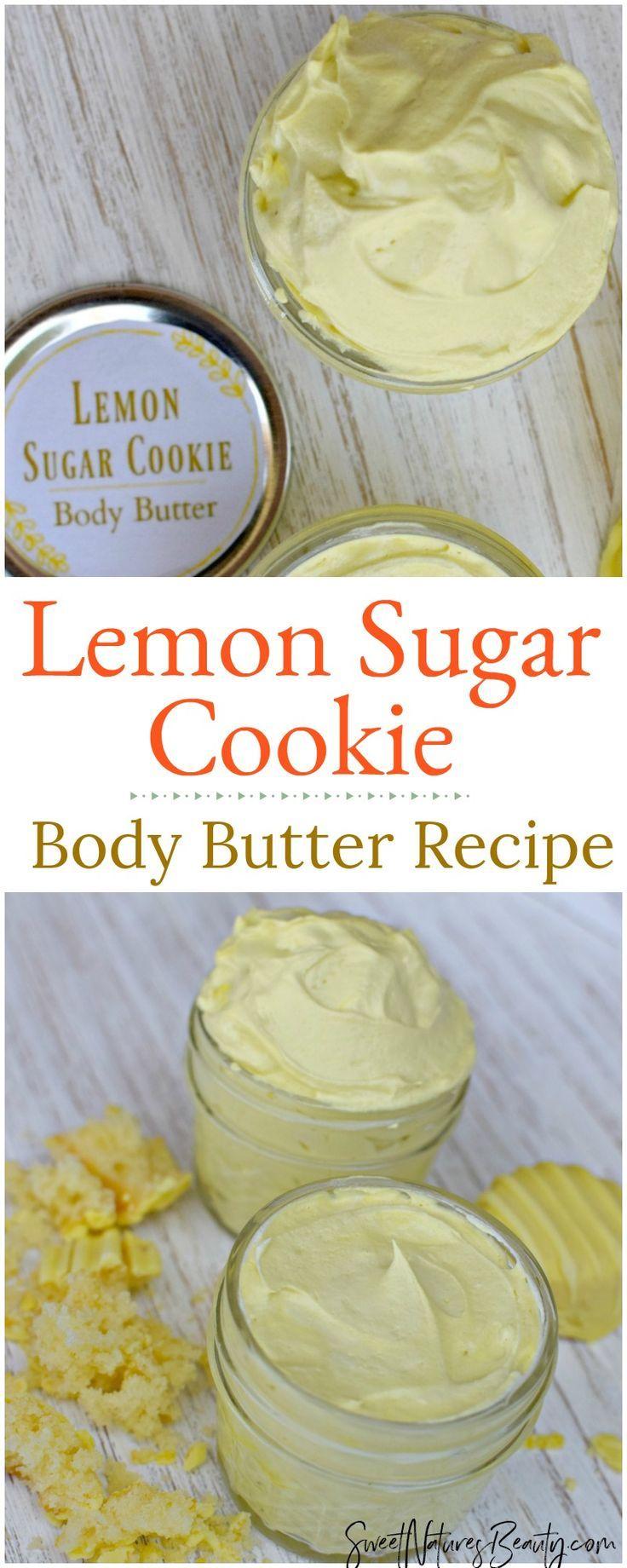 Lemon Sugar Cookie Whipped Body Butter Recipe Lemon Sugar