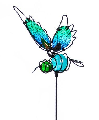 This Blue Glass Butterfly Garden Stake Is Perfect! #zulilyfinds