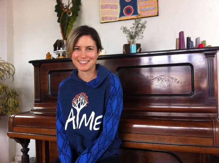 Missy Higgins in her favorite hoodie