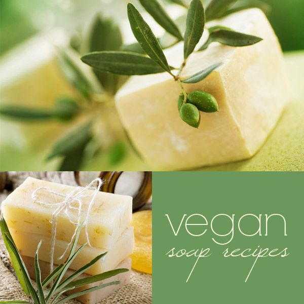 Vegan soap recipe with coconut oil, palm oil and olive oil. No animal-based additives + links to 4 other vegan-friendly recipes.