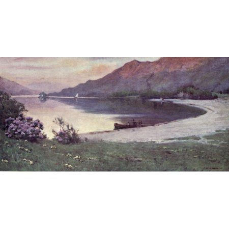 English Lakes 1908 Ullswater The Silver Strand Canvas Art - A Cooper (18 x 24)