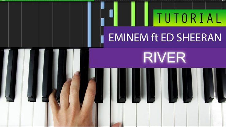 Eminem - River (feat. Ed Sheeran) Piano Tutorial + MIDI
