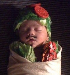 10 Food-Themed Baby Costumes For Halloween.....Someone needs to have a baby that I can borrow on the weekends and do crafty things with.