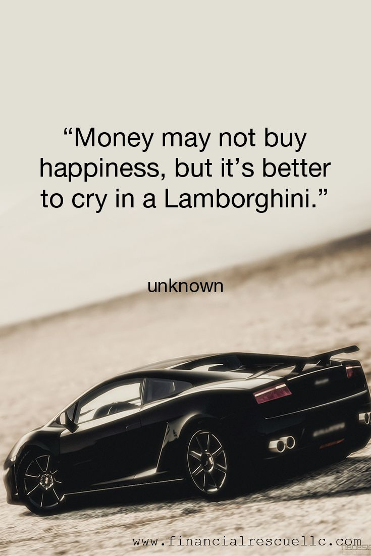 Quot Money May Not Buy Happiness But It S Better To Cry In A
