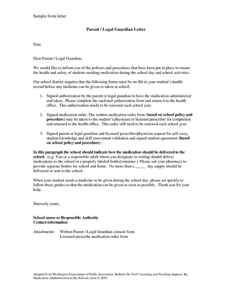 temporary guardianship letter sample