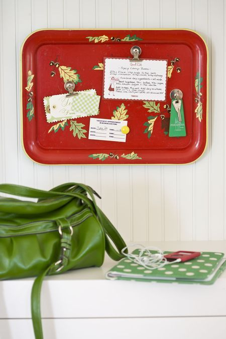 metal tray bulletin board..think of the possibilities!!