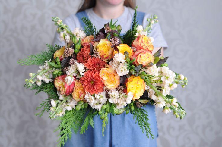 Яркий разноцветный букет / Bright multicolor bouquet