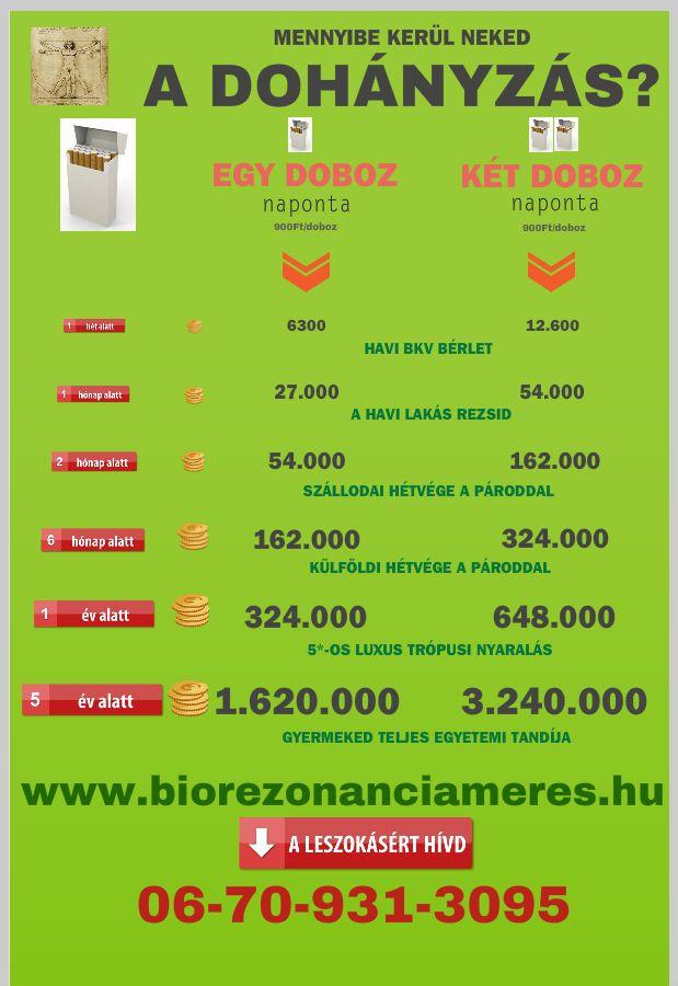 http://biorezonanciameres.hu/dohanyzasrol-leszoktatas/ Mennyibe kerül ma a dohányzás?