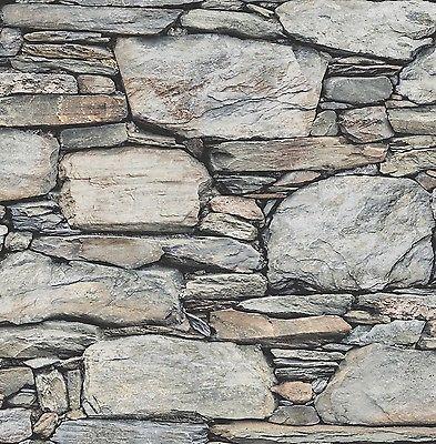 4265 tapete stein optik wand rasch textil vliestapete reclaimed grau 022304